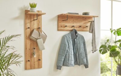 Wandgarderoben – Massivholz trifft Metall